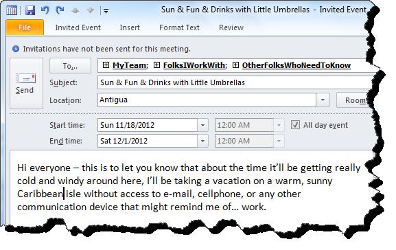 how to create a calendar invite on outlook